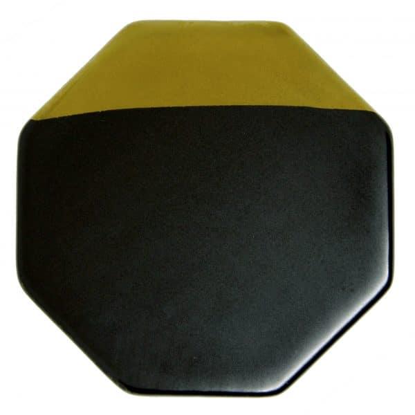 Onderzetter Keramiek June Hexagon Zwart